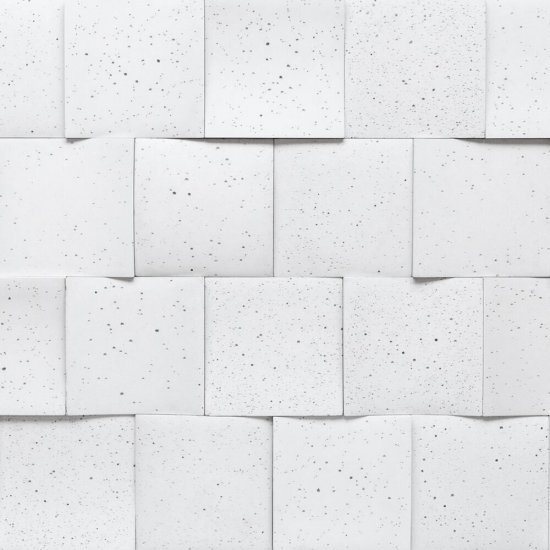 Betonowa płytka dekoracyjna 3D RUBICA 1 biały STONES