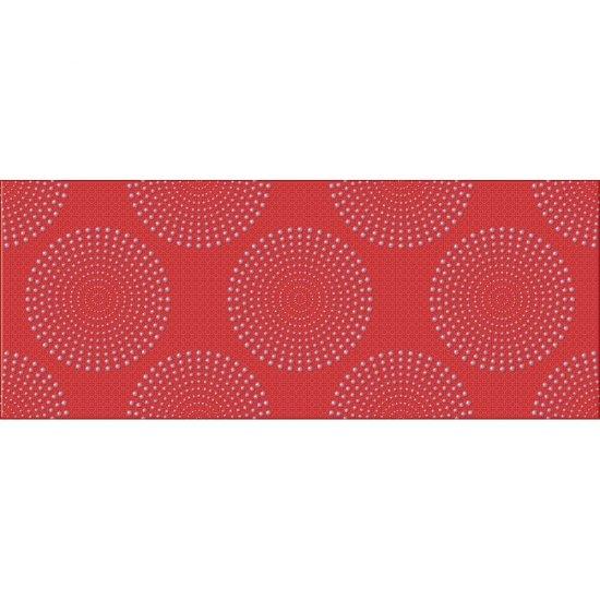 Płytka ścienna inserto FUSION czerwień glossy 20x50 gat. I