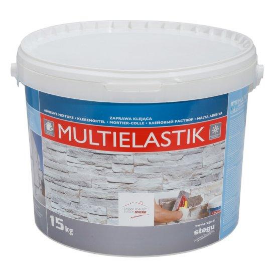 Klej sypki do płytek elewacyjnych i betonowych Multielastik 15 KG STEGU