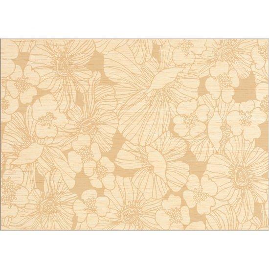 Płytka ścienna inserto FLORES cream flower mat 25x35 gat. I*