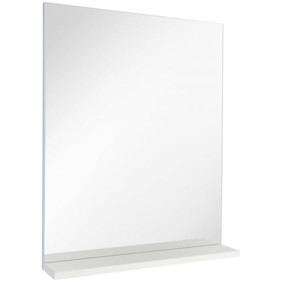 Lustro z półką MELAR białe