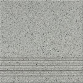 Gres techniczny stopnica KALLISTO K9 szary mat 29,7x29,7 gat. II