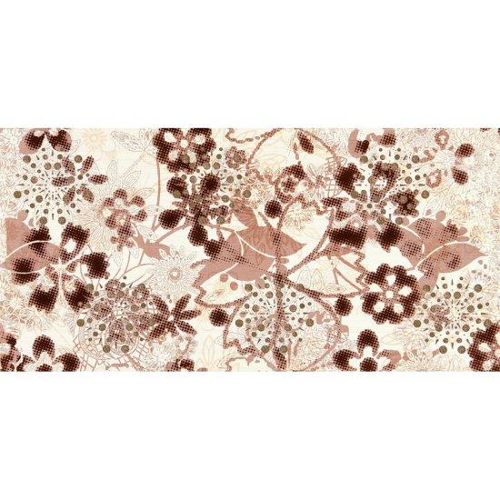 Płytka ścienna inserto LINERO brąz flower glossy 29x59,3 gat. I