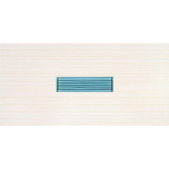 Płytka ścienna inserto szklane LINERO niebieska 29x59,3 gat. I