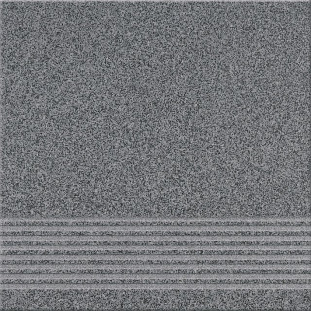 Gres techniczny stopnica KALLISTO K10 grafit mat 29,7x29,7 gat. II