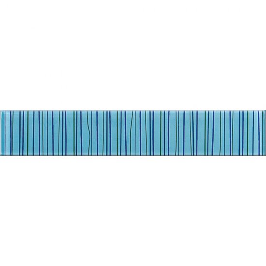Płytka ścienna listwa szklana LINERO niebieska 5x29 gat. I