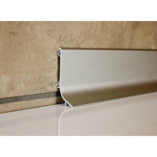 Listwa cokołowa aluminiowa Q63 samoprzylepna srebrna 2,7 m EFFECTOR