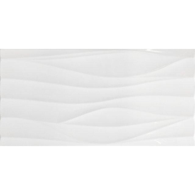 Płytka ścienna MODERN STYLE white wave structure 29,8x59,8 gat. II