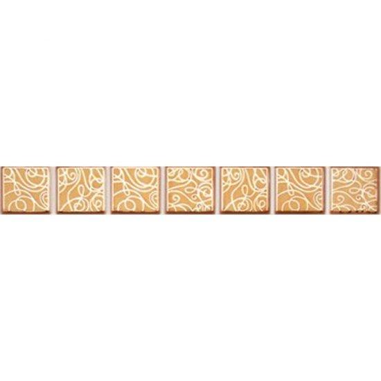 Płytka ścienna ELISA orange listwa geo błyszcząca 3x25 gat. I