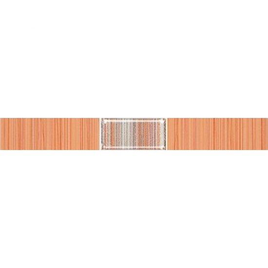 Płytka ścienna ORGANIC pomarańczowa listwa techno mat 3x25 gat. I