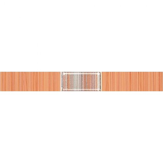 Płytka ścienna ORGANIC orange listwa techno mat 3x25 gat. I