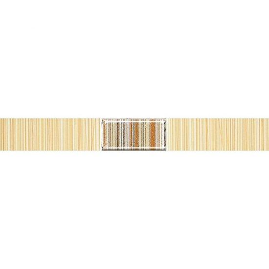 Płytka ścienna ORGANIC yellow listwa techno mat 3x25 gat. I