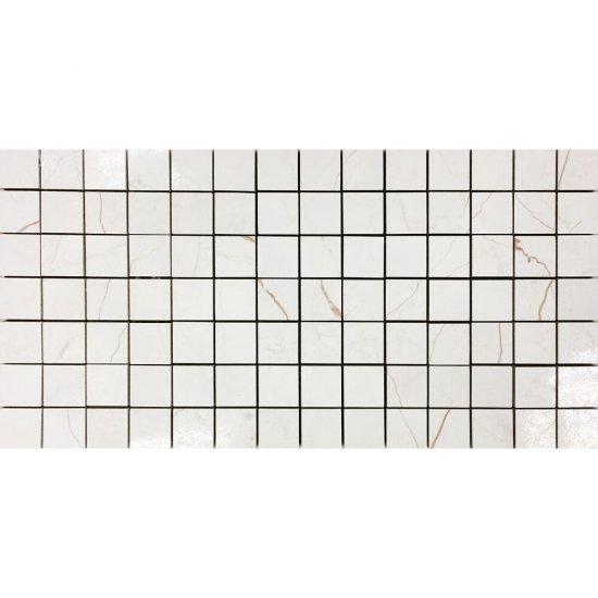 Gres szkliwiony PLAYA kremowy mozaika połysk 22,2x44,6 gat. I