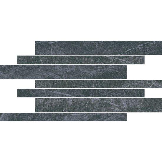 Gres szkliwiony YAKARA grafitowy mozaika 22,2x44,6 gat. I
