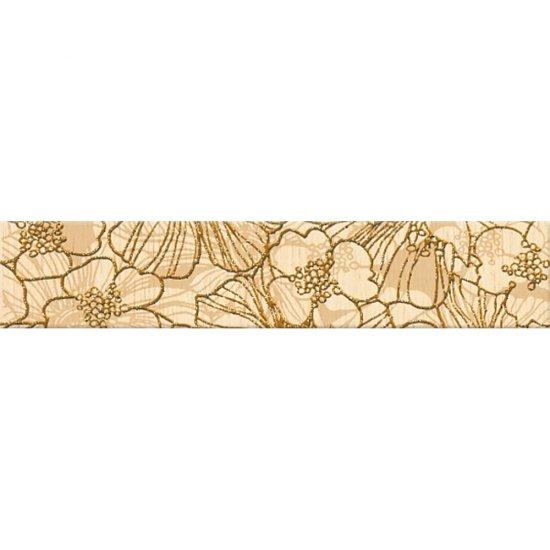 Płytka ścienna FLORES cream listwa kwiaty mat 5x25 gat. I
