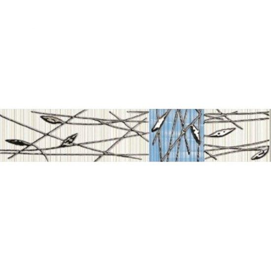 Płytka ścienna ORGANIC kremowo-niebieska listwa classic mat 5x25 gat. I