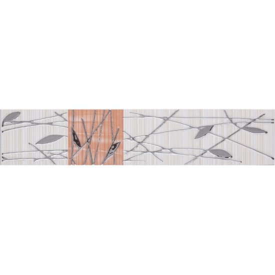 Płytka ścienna ORGANIC kremowo-pomarańczowa listwa classic mat 5x25 gat. I