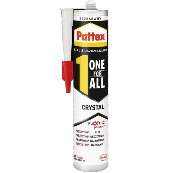 Klej, uszczelniacz uniwersalny PATTEX ONE FOR ALL Crystal 290g