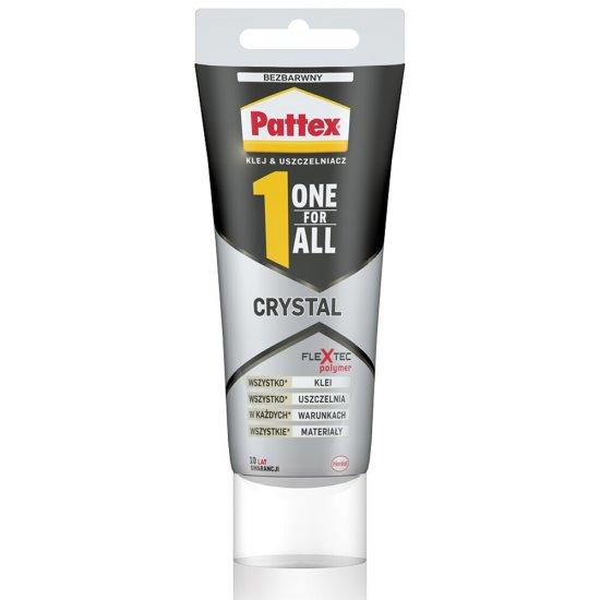 Klej, uszczelniacz uniwersalny PATTEX ONE FOR ALL Crystal w tubce 90g