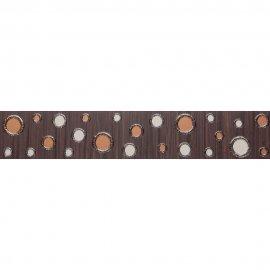 Płytka ścienna ZEBRANO brązowa listwa modern mat 5,4x30 gat. I