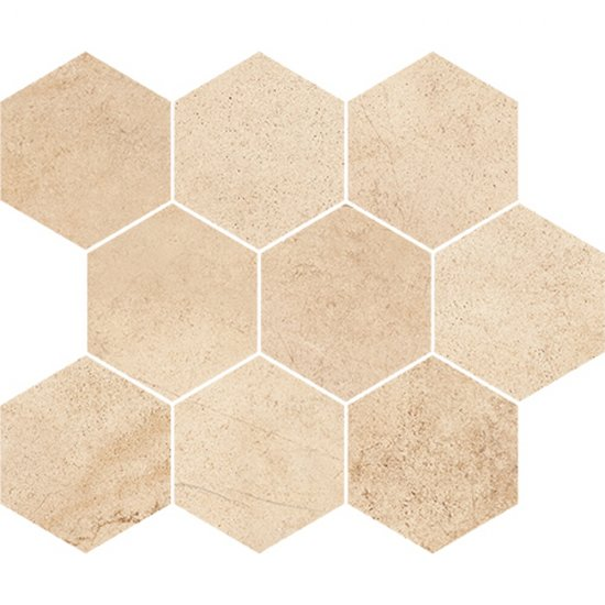 Płytka ścienna mozaika SAHARA DESERT yellow hexagon mat 28x33,7 gat. I