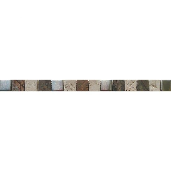Płytka ścienna VIRGA multikolor listwa mozaika błyszcząca 2,8x45 gat. I