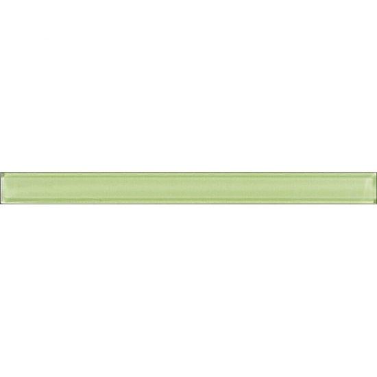 Płytka ścienna ARTIGA zielona listwa szklana błyszcząca 3x35 gat. I