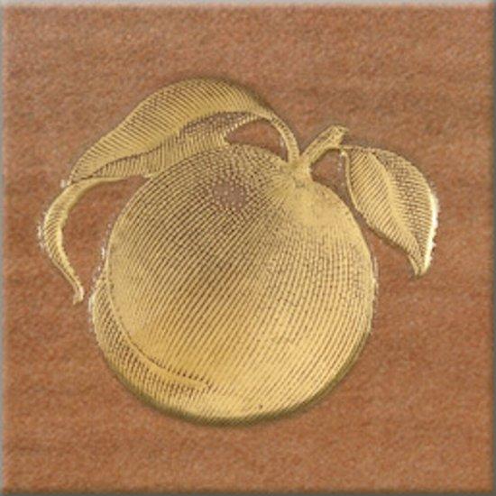 Gres szkliwiony inserto REAL COTTO orange fruti 1 mat 10,9x10,9 gat. I