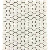 Mozaika gresowa SMALL HEXAGONES white mat 30x30 gat. I