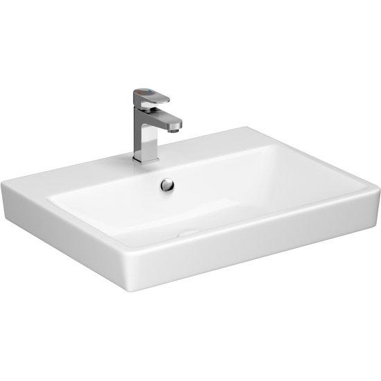 Umywalka pojedyncza meblowa SPLENDOUR 60 z korkiem ceramicznym klik-klak