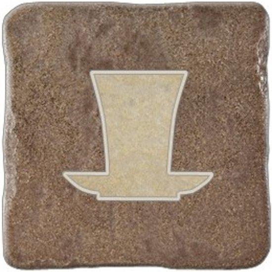 Gres szkliwiony REAL STONE brown inserto tea 2 mat 10,9x10,9 gat. I