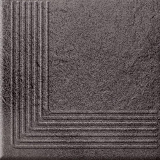 Klinkier stopnica SOLAR grafit narożny structure glossy 30x30 gat. I