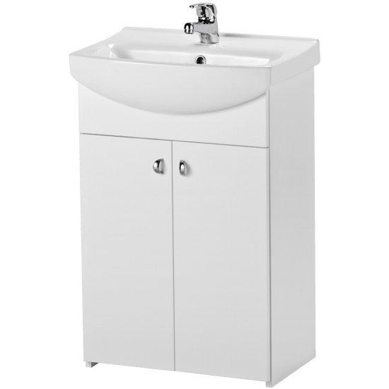 Szafka BIANCO z umywalką CERSANIA NEW 50 biała DSM