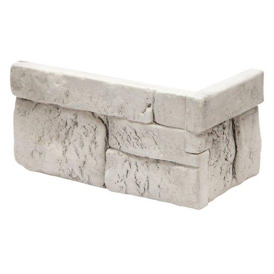 Narożnik do kamienia dekoracyjnego wewętrznego SAVONA biały STONES