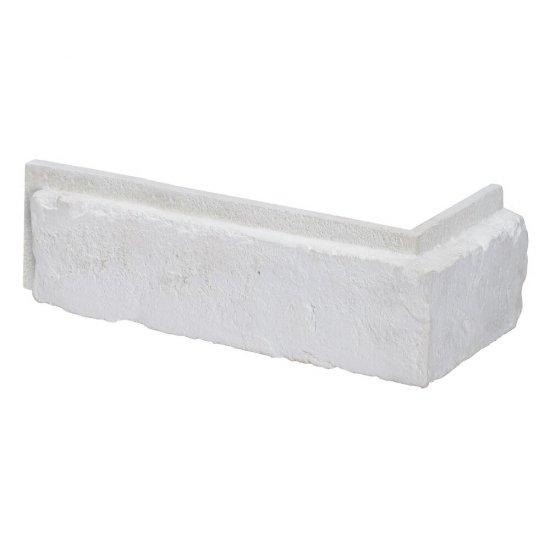 Narożnik do płytki cegłopodobnej wewnętrznej  VINTAGE 2 biały z fugą STONES