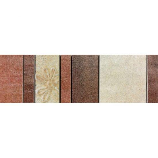 Gres szkliwiony REAL COTTO kremowy listwa mozaika B mat 8,8x29,7 gat. I