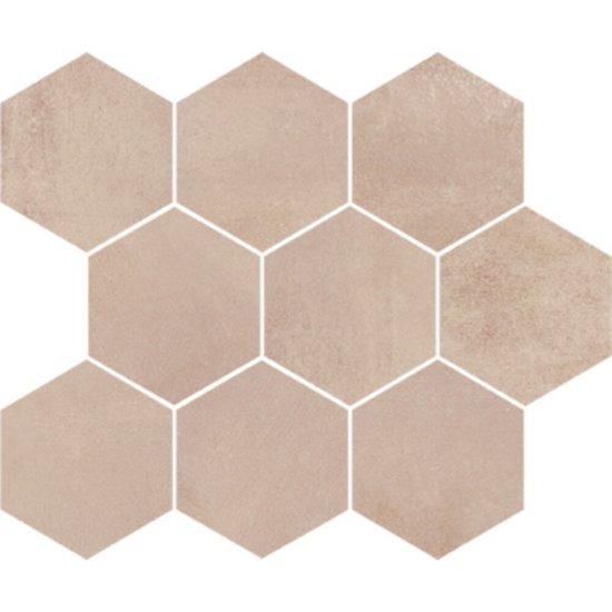 Płytka ścienna mozaika ARLEQUINI cream hexagon mat 28x33,7 gat. I