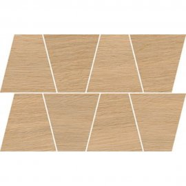 Gres szkliwiony GRAND WOOD PRIME dark beige MOSAIC TRAPEZE mat 0,8 19x30,6 gat. I