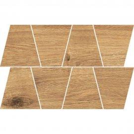 Gres szkliwiony GRAND WOOD RUSTIC bronze MOSAIC TRAPEZE mat 0,8 19x30,6 gat. I