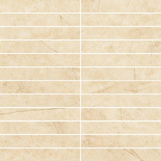 Mozaika gresowa NIVIO beige prostokąty mat 29,7x29,7 gat. I
