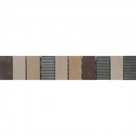Gres szkliwiony listwa mozaika ARENISCA krem mat 5,4x29,7 gat. I