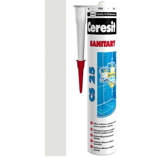 Silikon sanitarny CERESIT CS 25 silver 280 ml
