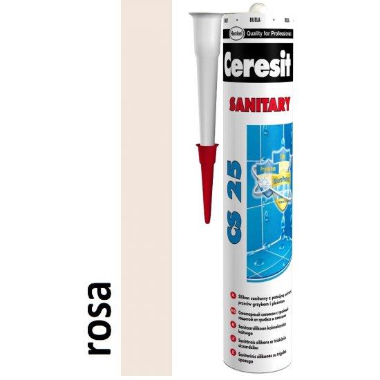 Silikon sanitarny CERESIT CS 25 rosa 280 ml