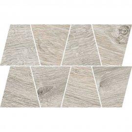 Gres szkliwiony GRAND WOOD PRIME grey MOSAIC TRAPEZE mat 0,8 19x30,6 gat. I