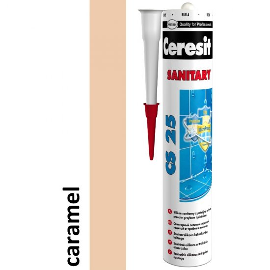 Silikon sanitarny CERESIT CS 25 caramel 280 ml