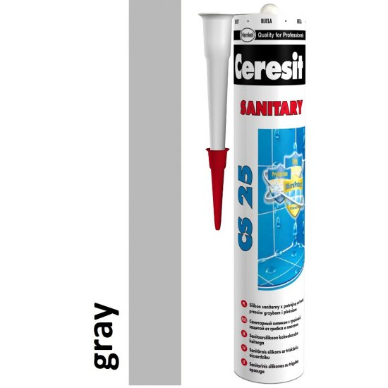 Silikon sanitarny CERESIT CS 25 gray 280 ml