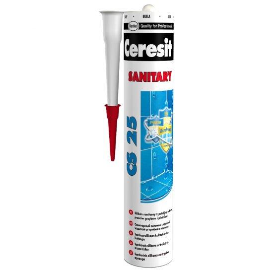 Silikon sanitarny CERESIT CS 25 bezbarwny 280 ml