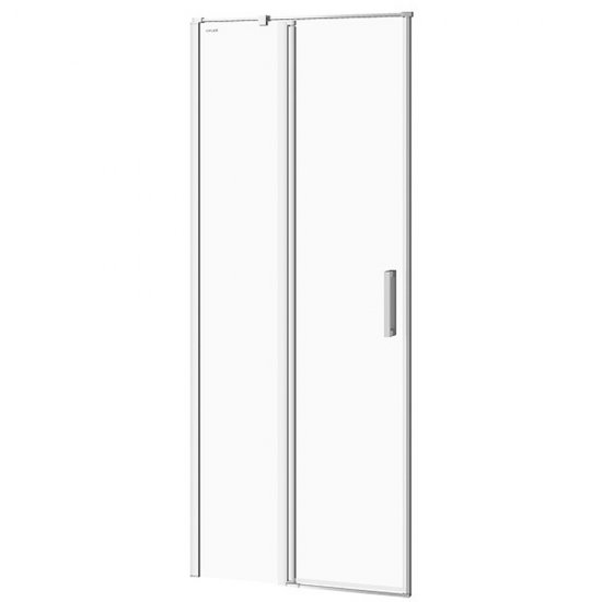 Drzwi na zawiasach kabiny prysznicowej MODUO 80x195 lewe transparentne