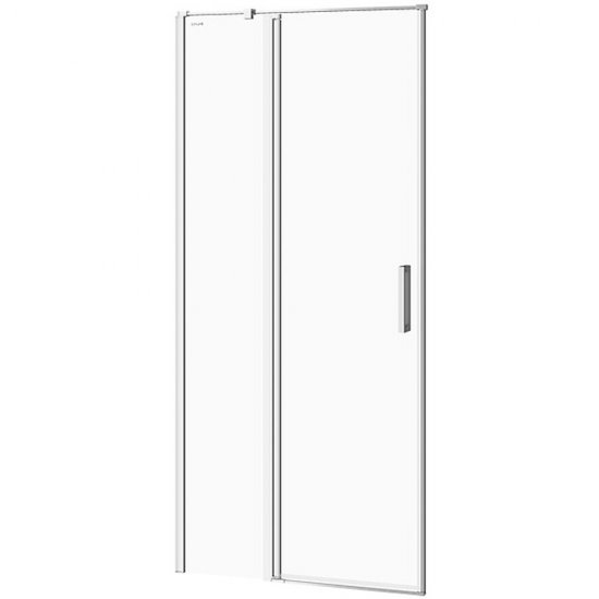 Drzwi na zawiasach kabiny prysznicowej MODUO 90x195 lewe transparentne