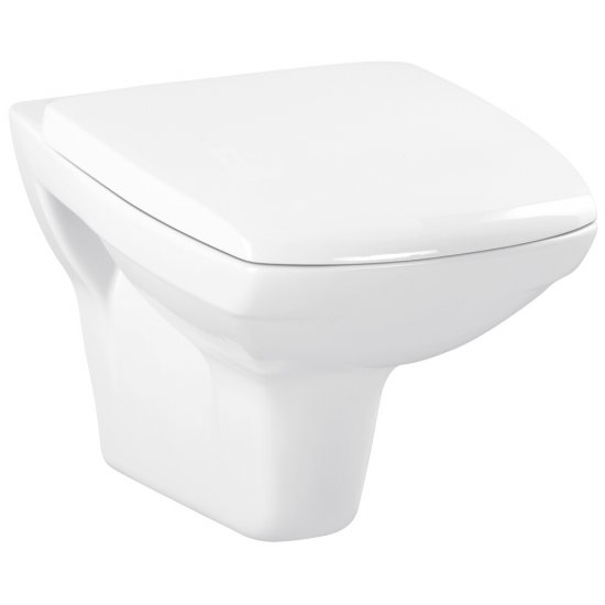 Miska WC podwieszana CARINA NEW CleanOn prostokątna